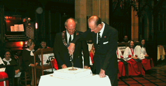 Prince Philip visits Windsor Parish Church to celebrate Rotary Club 100th Anniversary