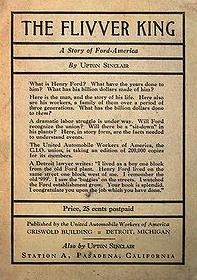 Written by Upton Sinclair about Henry Ford and published in Pasadena in 1937.