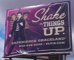 Elvis promotion billboard near Burnsville, Mississippi in March 2010