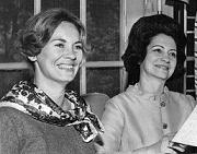 Dr. Dottie Foote and Mrs. Fawcett, wife of the Ohio State President