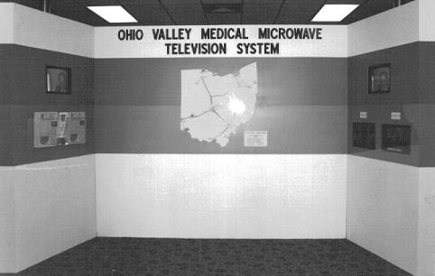 Convention display used to promote health/medical uses of Columbus based system for Ohio Educational Broadcasting.