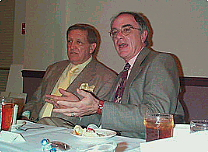 George Lindsey with Garry Warren, UNA Dean, at Film Festival in 2000