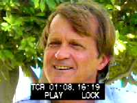 TV frame of Rick Davis, NBC Television News, in LAB Gulf War Collection. U-Md., College Park
